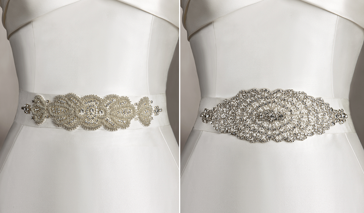 How to select good wedding dress belts wedding and for Belts for wedding dress