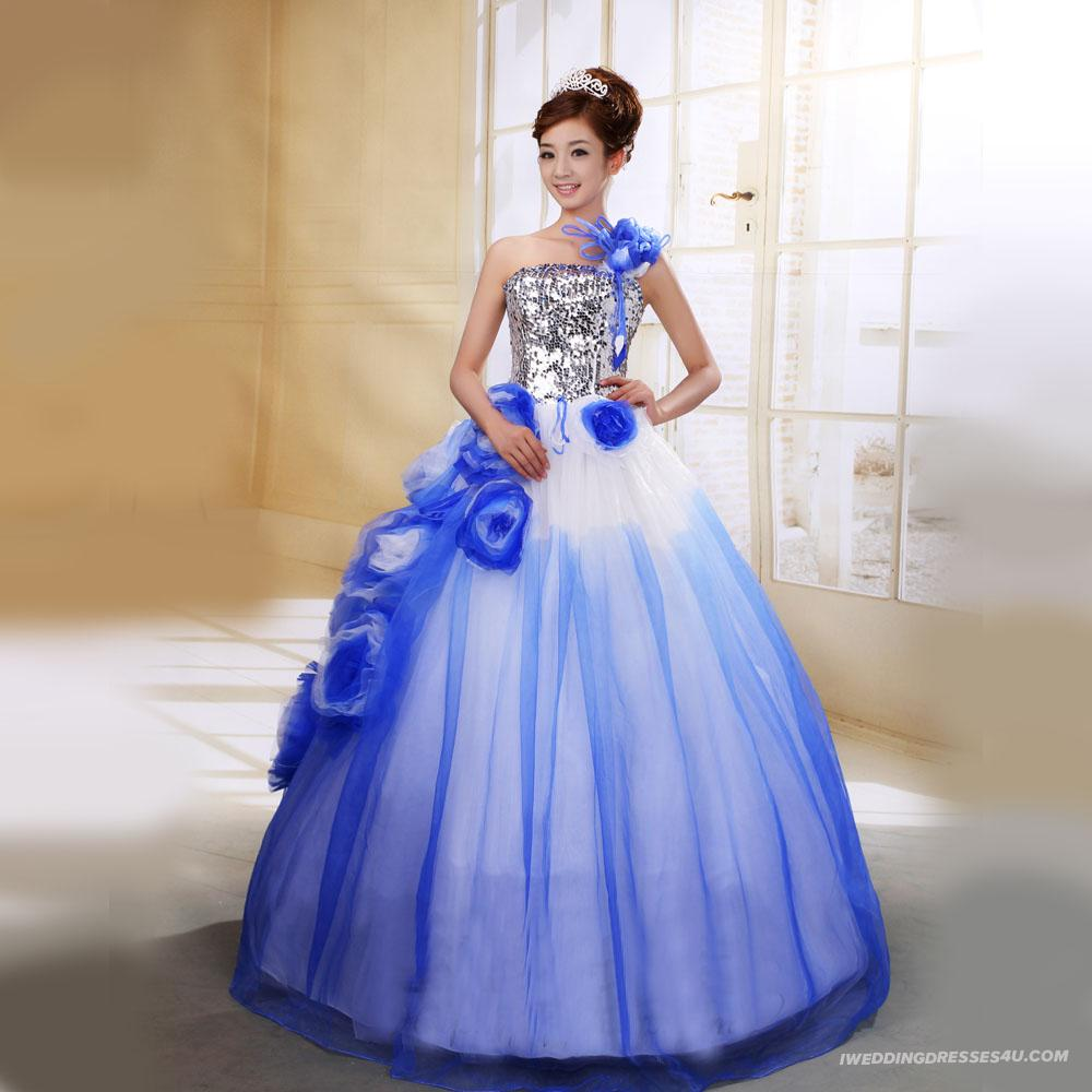 Wedding dresses with color in them wedding and bridal for Wedding dresses in color