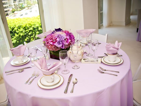 Wedding shower table centerpieces and bridal