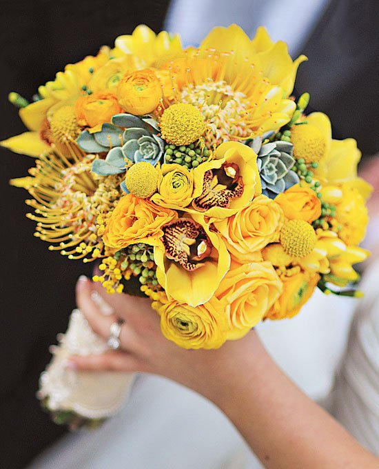 Yellow Flowers At Wedding : Yellow flower bouquets for weddings wedding and bridal