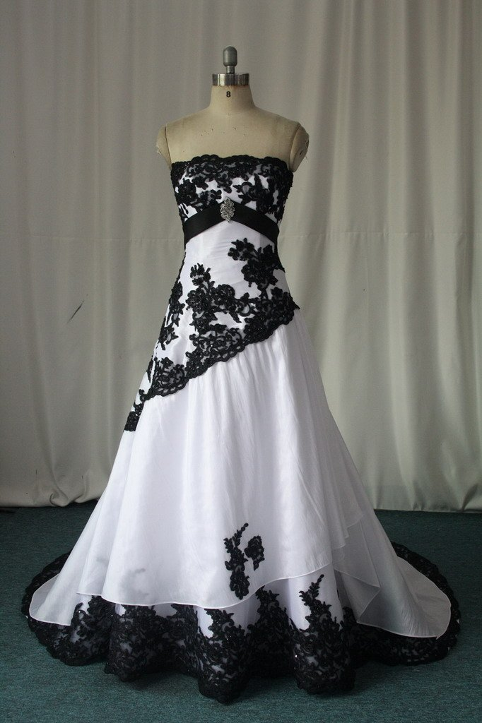 Black and white wedding gowns for sale wedding and for Wedding dress for sale