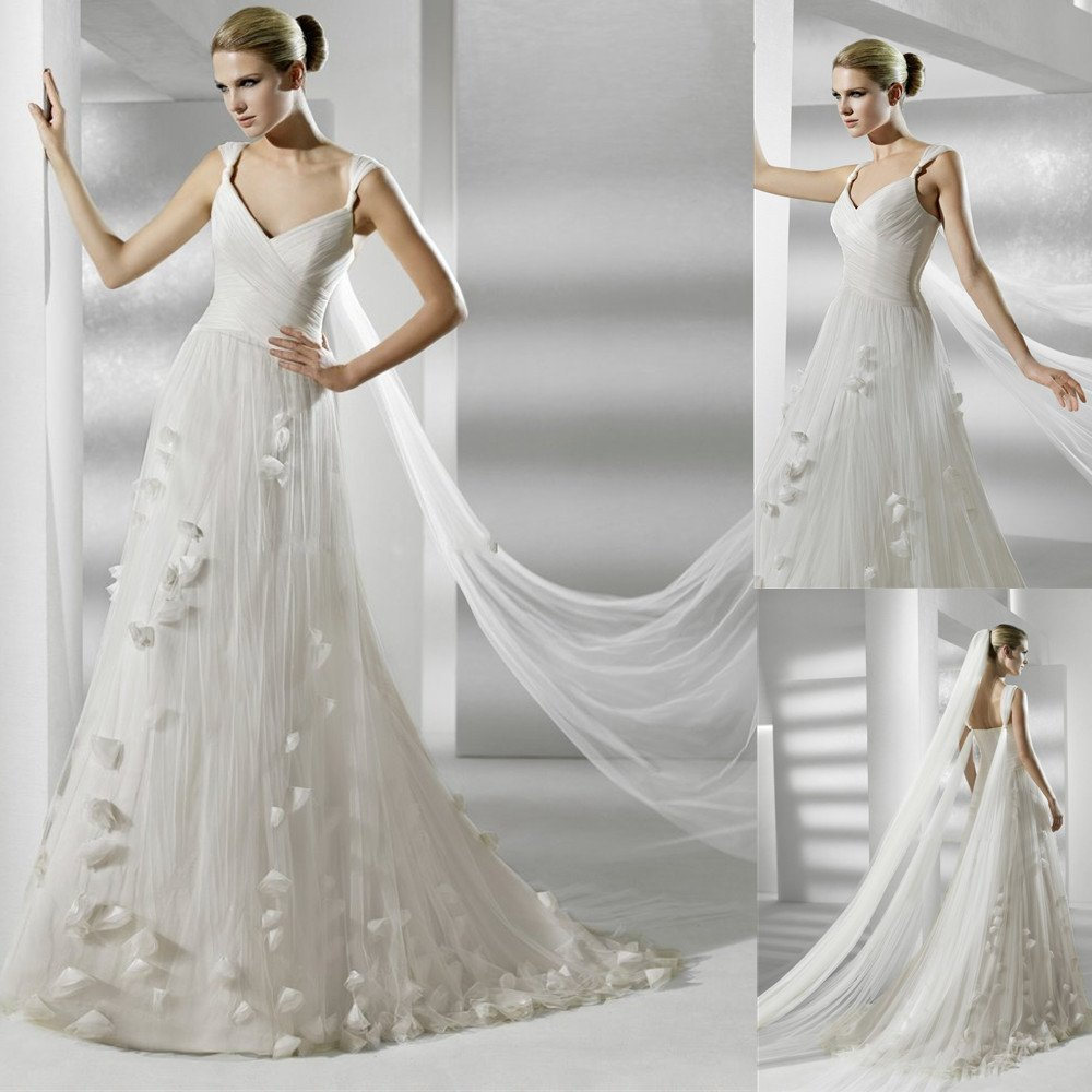 Elegant dresses for wedding guest wedding and bridal for Simple elegant wedding dress designers