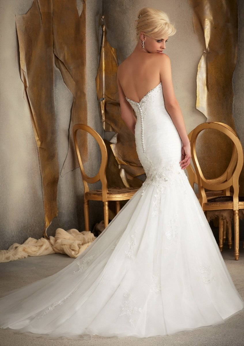 Low Back Wedding Dresses Are Modest Yet Stylish Choices