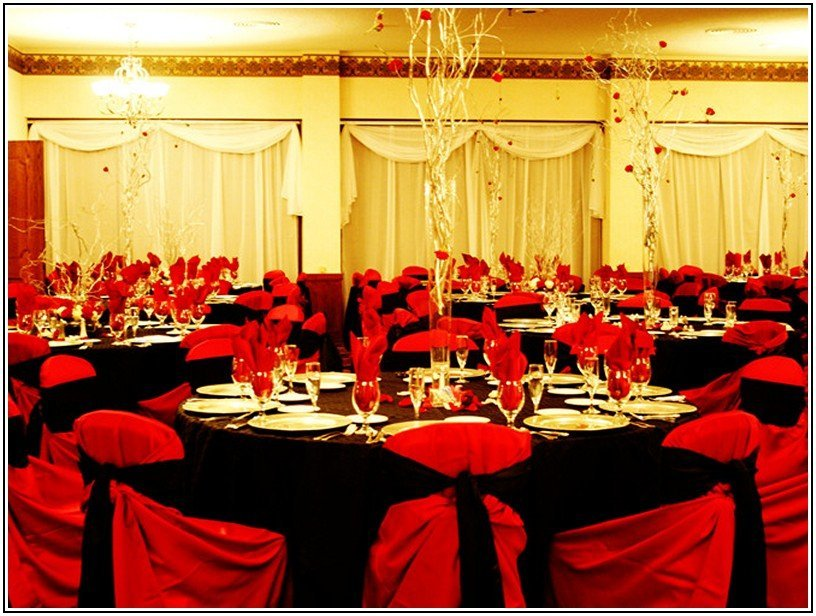 Red And Black Wedding Decorations