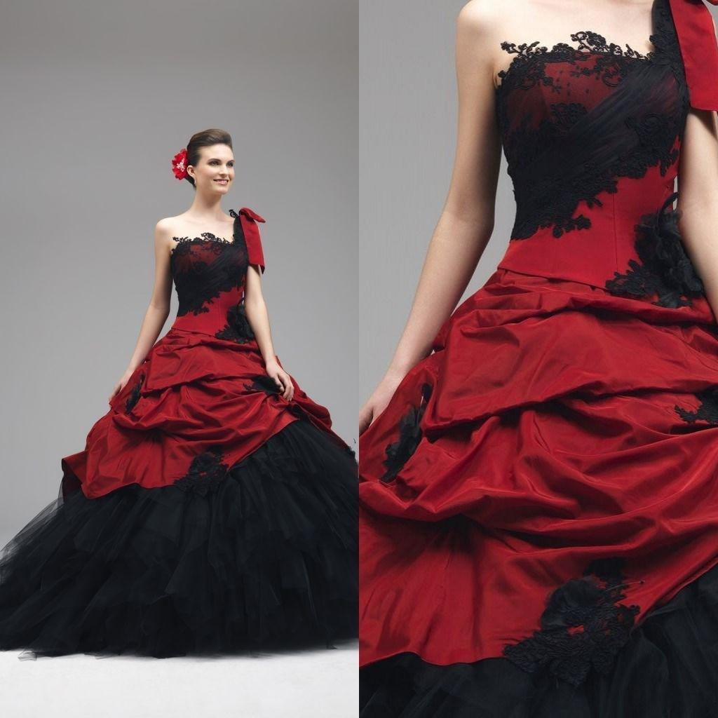 Red gothic wedding dress wedding and bridal inspiration for Dark wedding dresses