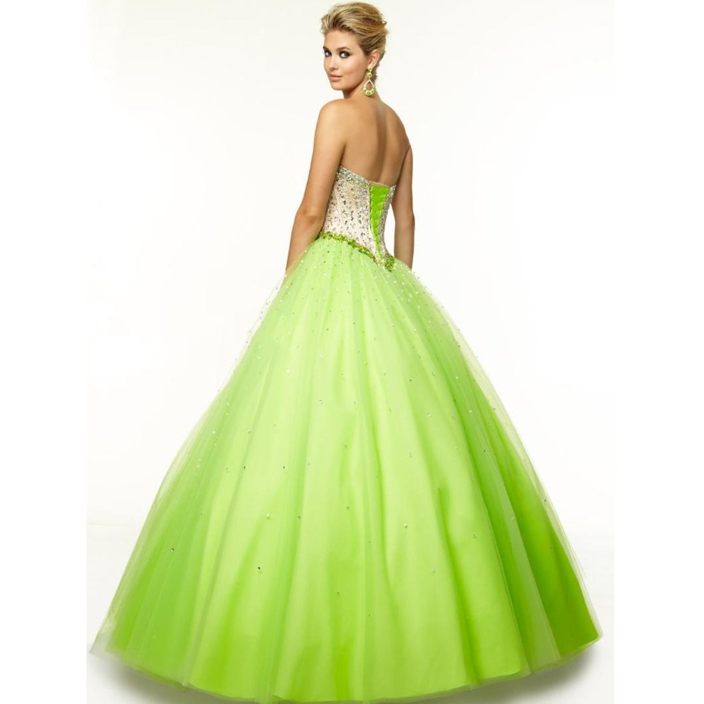White And Lime Green Wedding Dresses Wedding And Bridal