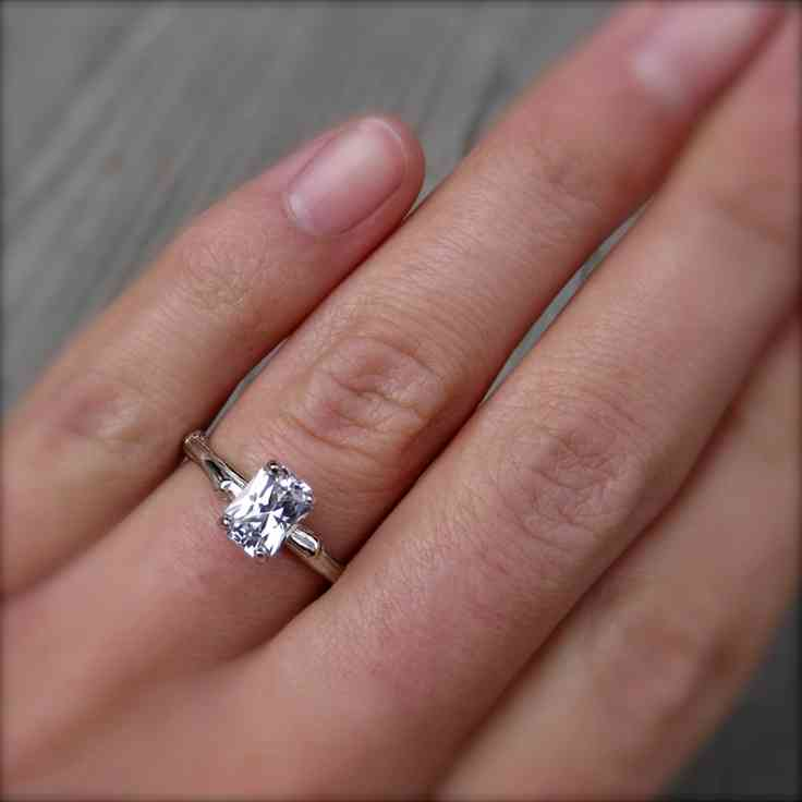 2 Carat Emerald Cut Diamond Engagement Ring Wedding and Bridal Inspiration