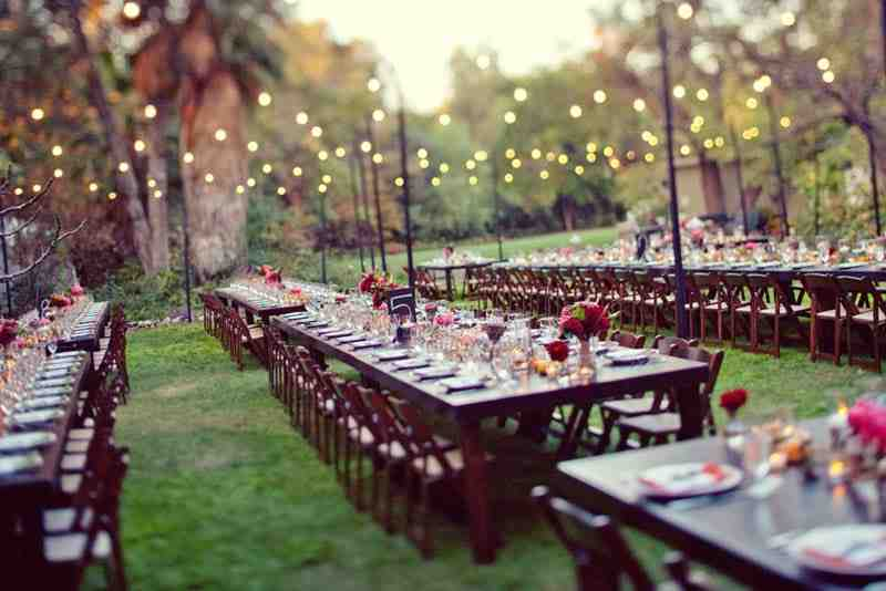 Backyard wedding decoration ideas on a budget wedding for Outdoor wedding decorations on a budget