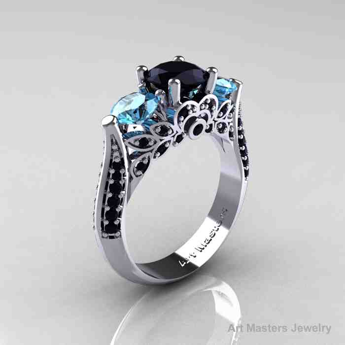 Black And Blue Wedding Rings 010 - Black And Blue Wedding Rings