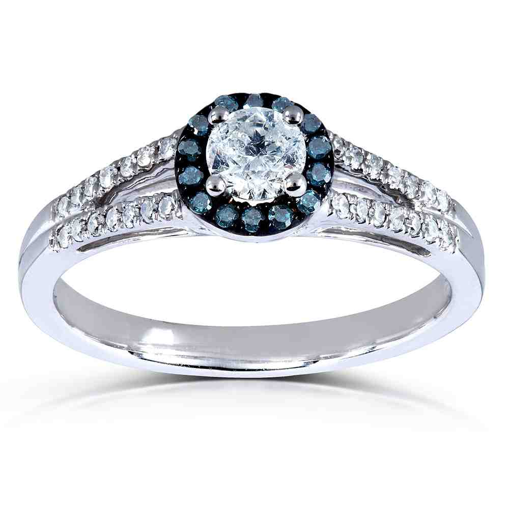 Blue Diamond Halo Engagement Ring  Wedding And Bridal. Plated Engagement Rings. Girly Engagement Rings. Hoop Rings. Black Diamond Rings. Circle Cut Wedding Rings. Bottom Wedding Rings. Emerald Cut Diamond Rings. William And Kate Wedding Rings