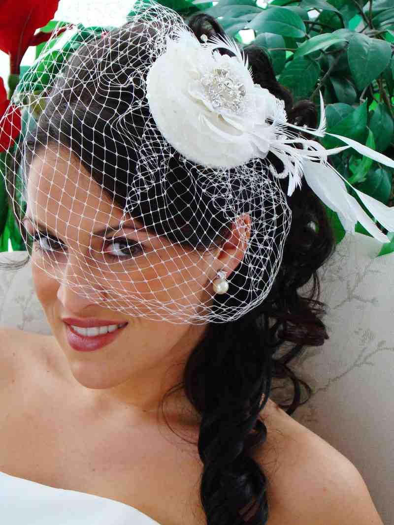 Фото свадебных причесок с вуалетками