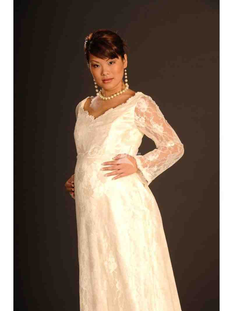 Long sleeve maternity wedding dresses wedding and bridal for How to find the perfect wedding dress
