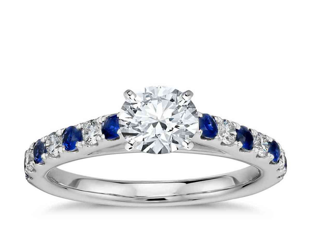 platinum diamond and sapphire engagement rings wedding and bridal inspiration. Black Bedroom Furniture Sets. Home Design Ideas