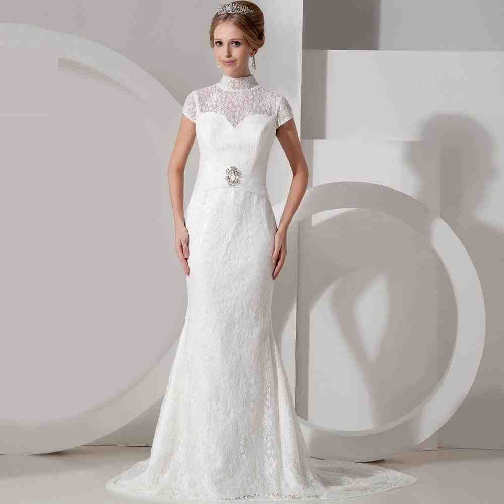Simple wedding dresses with sleeves wedding and bridal for Simple long sleeve wedding dresses