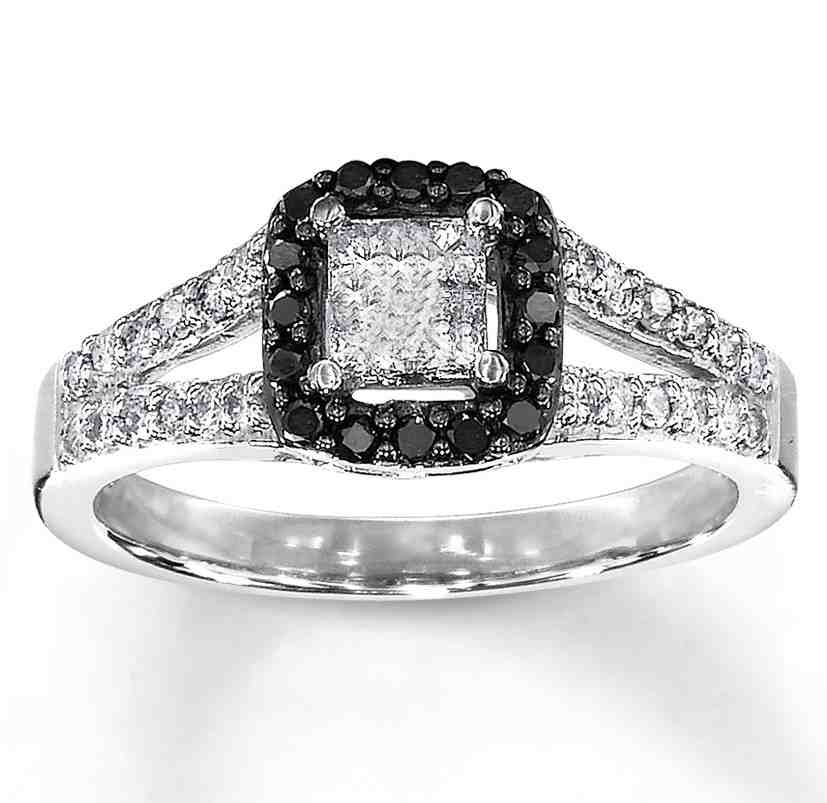 Beautiful Diamond Bands: Beautiful Black Diamond Engagement Rings