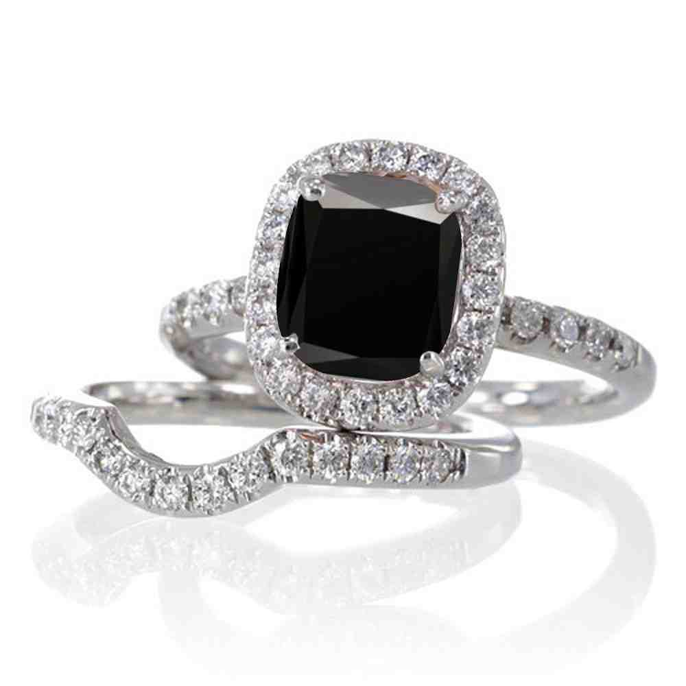 black diamond wedding ring sets for women wedding and bridal inspiration. Black Bedroom Furniture Sets. Home Design Ideas
