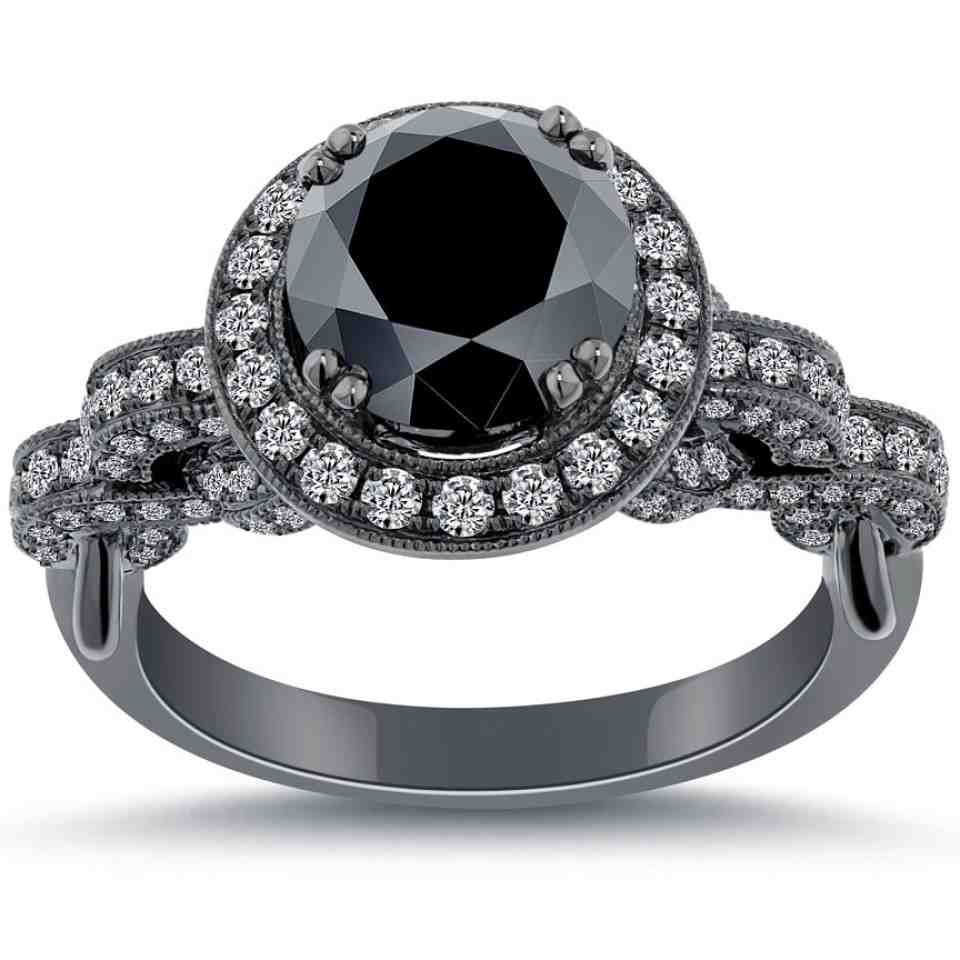 Cheap Black Diamond Engagement Rings Wedding and Bridal Inspiration