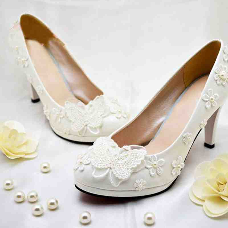 Cheap Flower Girl Shoes Ivory