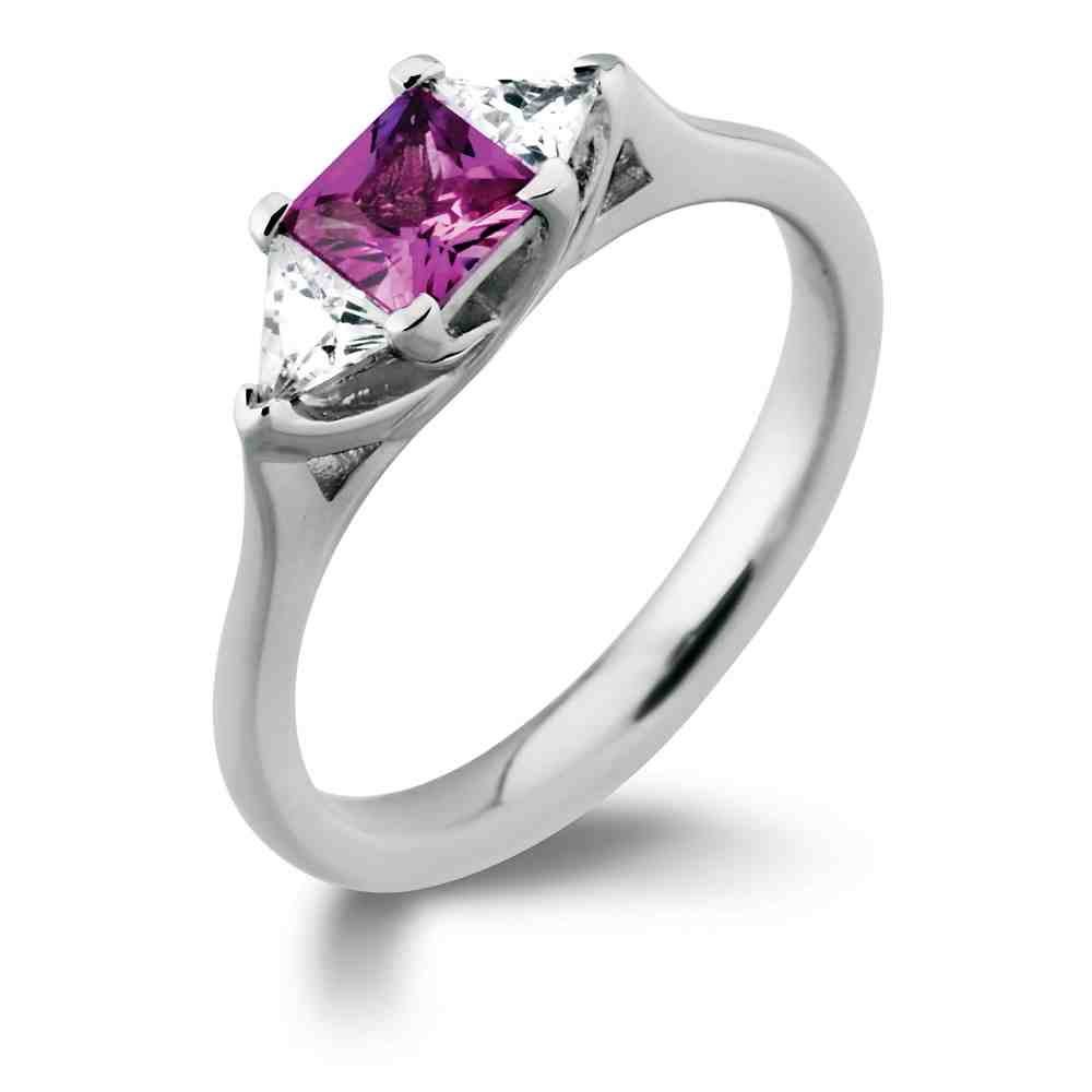 Cheap pink diamond engagement rings wedding and bridal for Wedding rings with pink