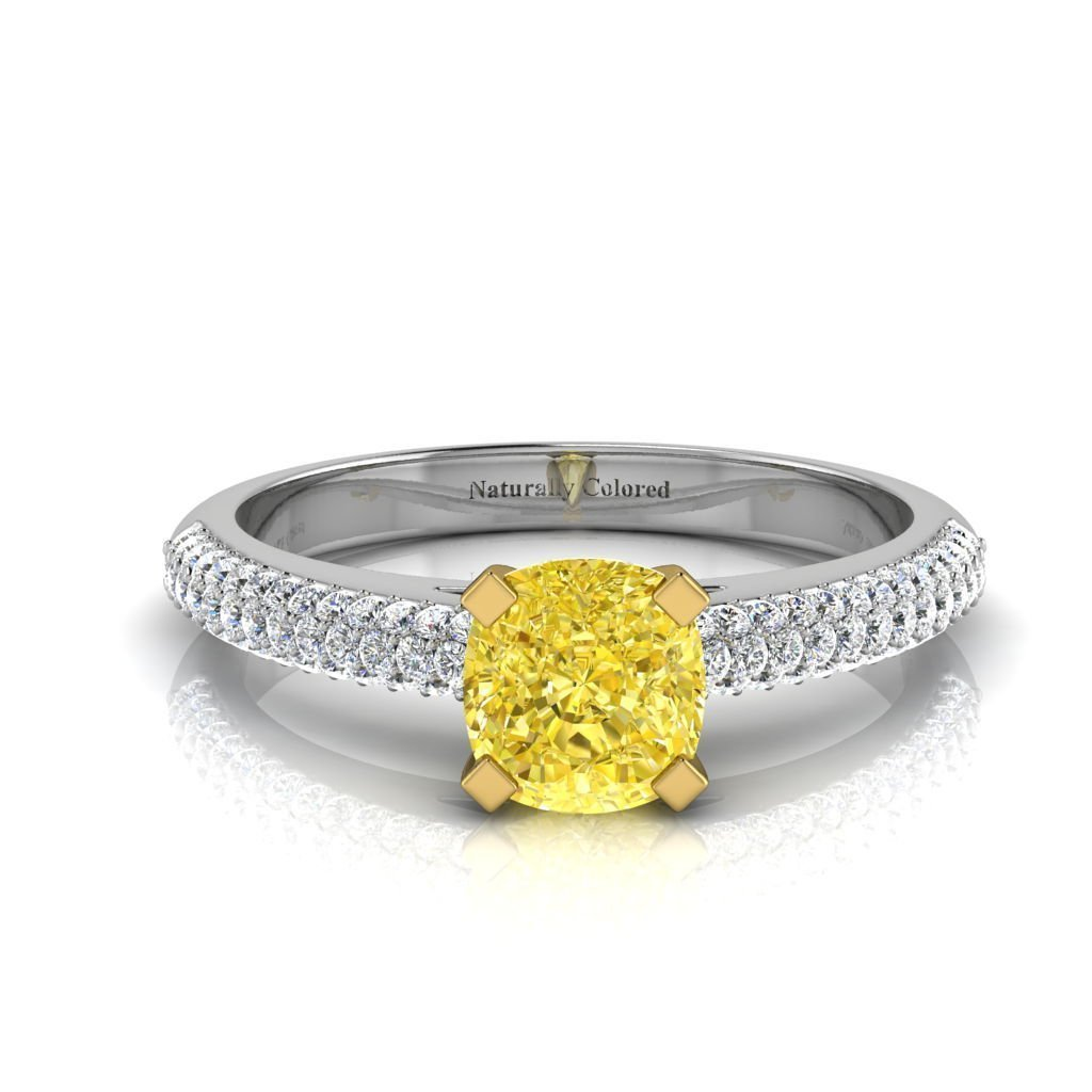 Colored Diamond Engagement Rings  Yellow Pink Blue