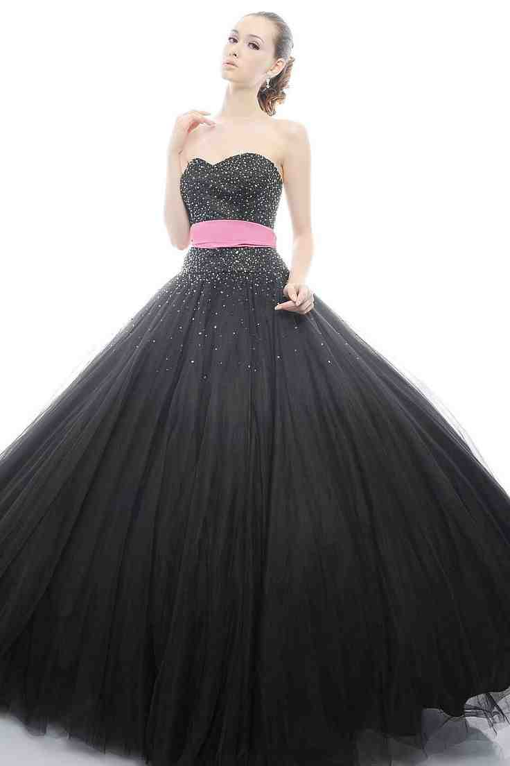 Hot pink and black wedding dresses wedding and bridal for Black and pink wedding dress
