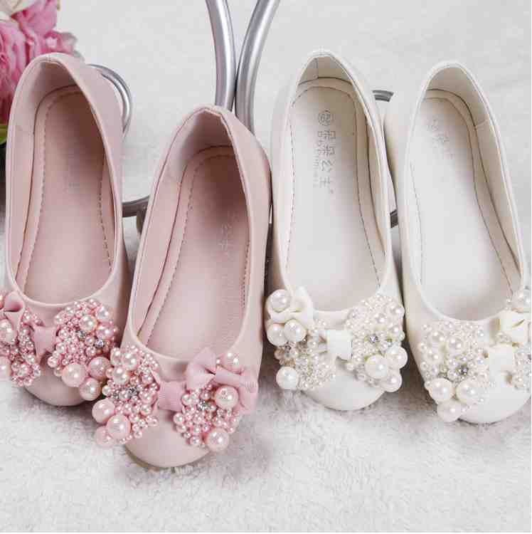 Ivory Lace Flower Girl Shoes - Wedding and Bridal Inspiration