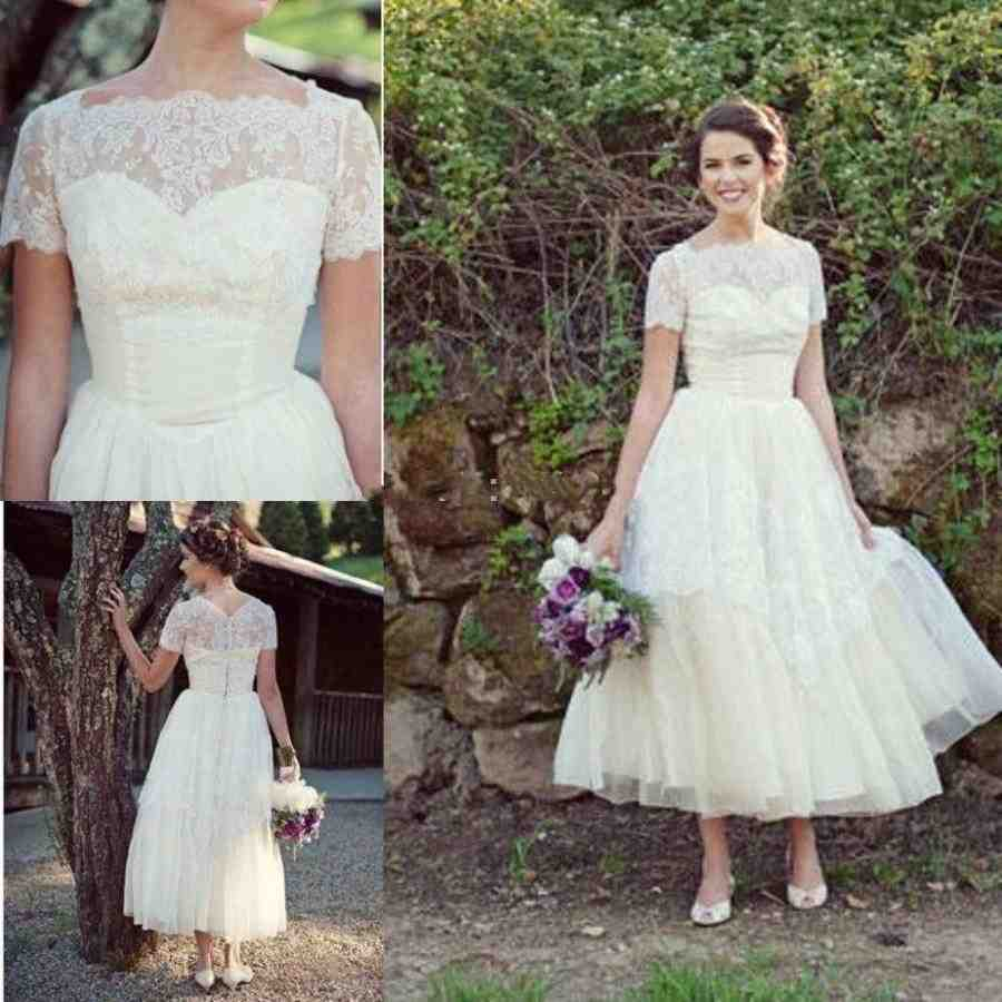 Modest short wedding dresses wedding and bridal inspiration for Short modest wedding dresses