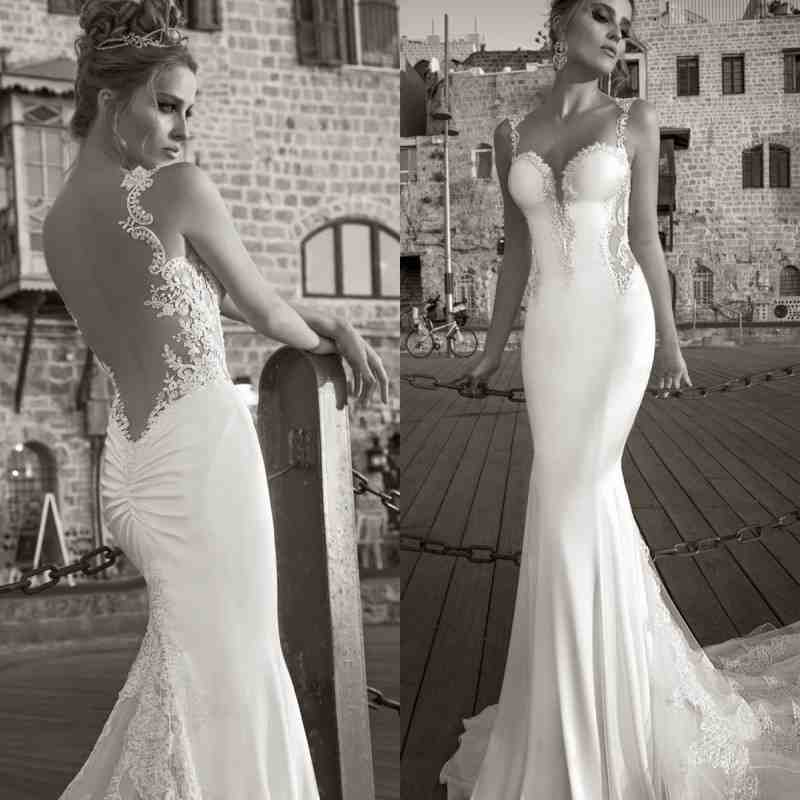 Open back mermaid wedding dress wedding and bridal for Sexy open back wedding dress