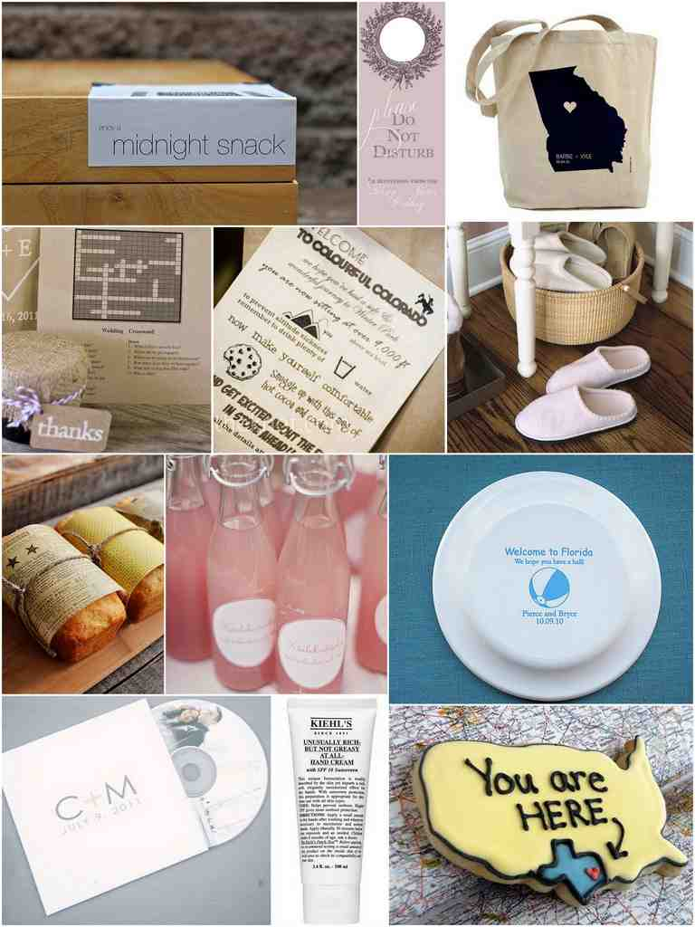 Wedding Fair Gift Bag Ideas : Out Of Town Wedding Gift Bag Ideas - Wedding and Bridal Inspiration