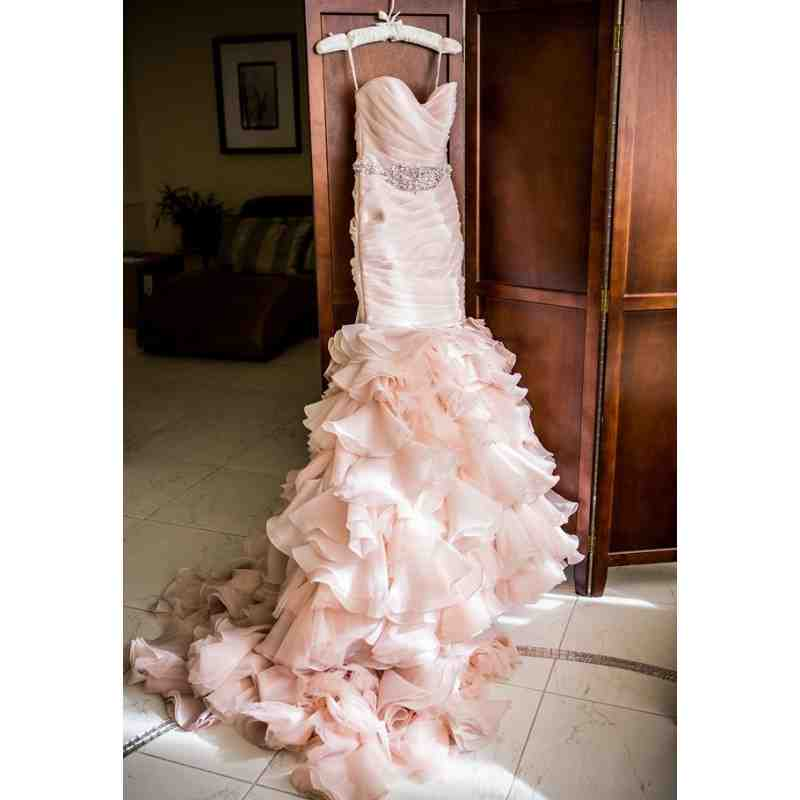 Pink ruffle wedding dress wedding and bridal inspiration for Pink ruffle wedding dress