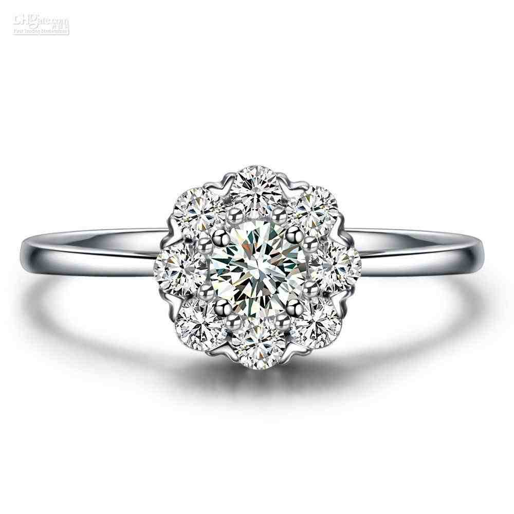 real engagement rings for cheap wedding and
