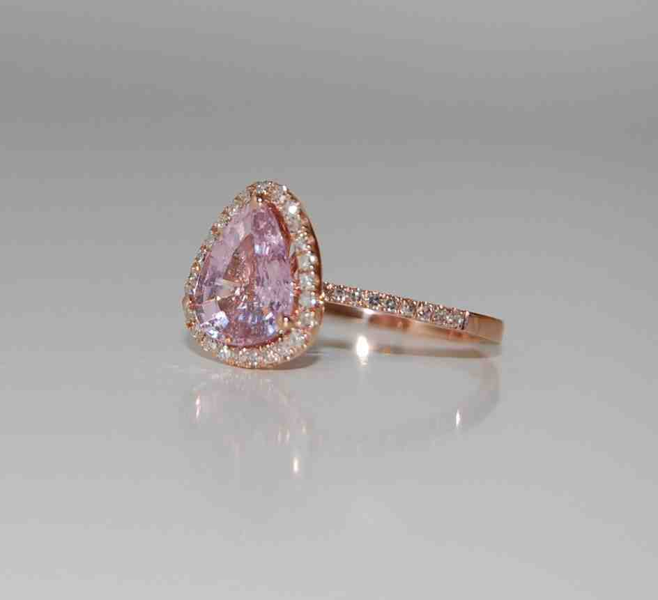 Rose Gold Engagement Rings With Pink Diamond Wedding and Bridal Inspiration