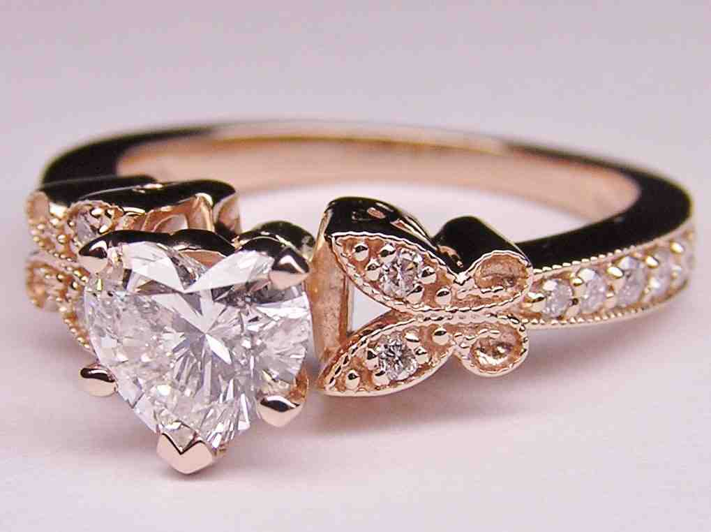 Rose gold wedding rings for women wedding and bridal for Wedding gold rings for women
