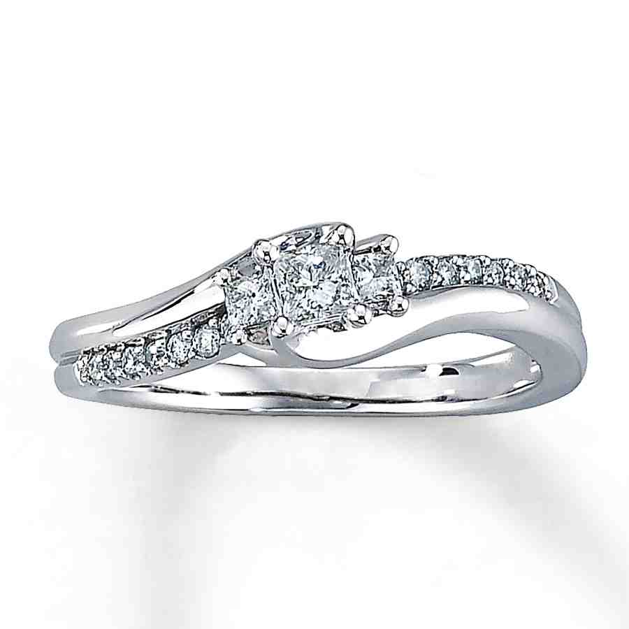 Simple White Gold Engagement Rings - Wedding and Bridal ...