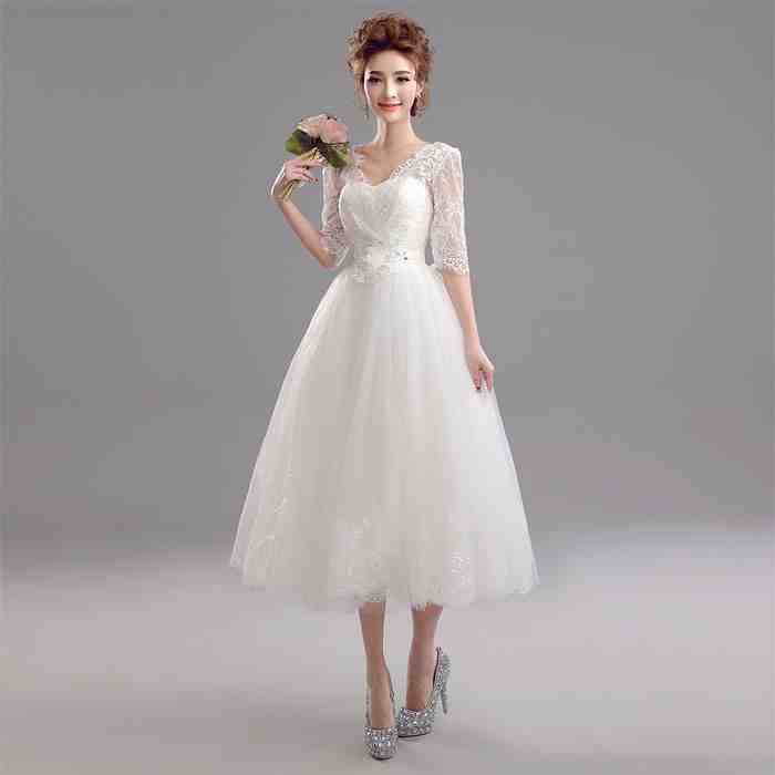 Tea length wedding dresses under 100 wedding and bridal for Wedding dresses for under 100