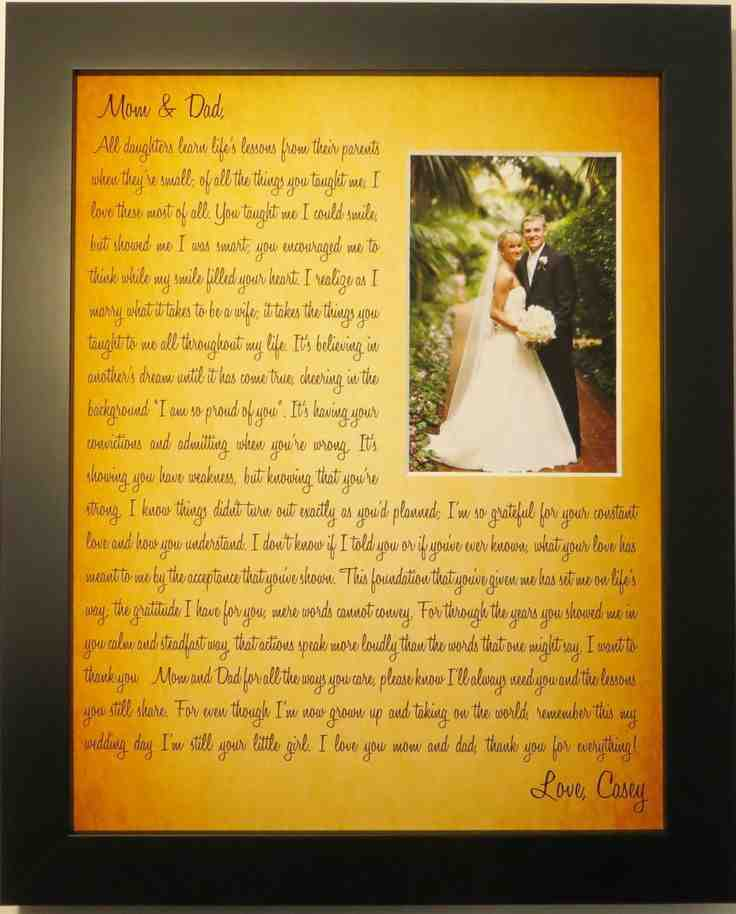 Bride To Groom Wedding Gifts: Wedding Gift Ideas For Parents Of The Bride And Groom