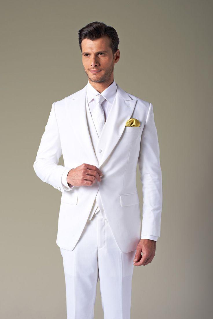 White Tuxedo For Wedding Wedding And Bridal Inspiration