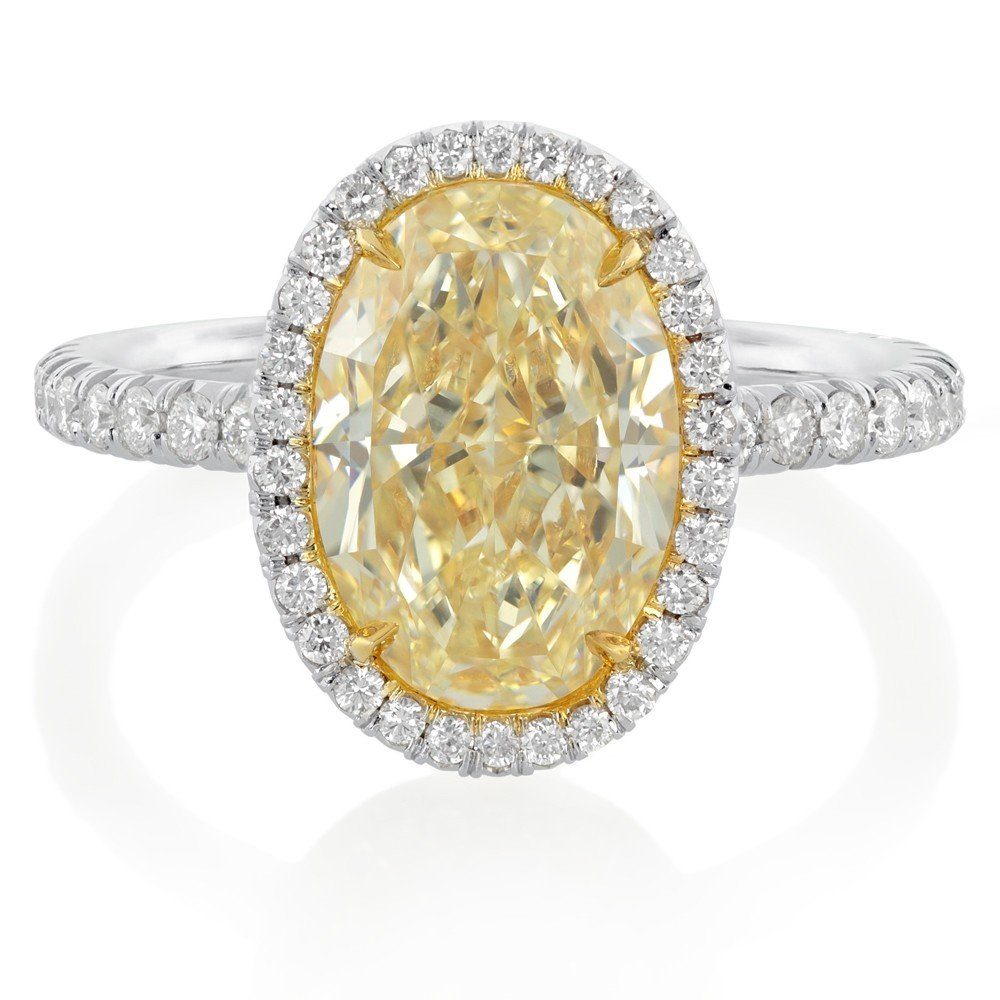 yellow diamond halo engagement rings wedding and bridal