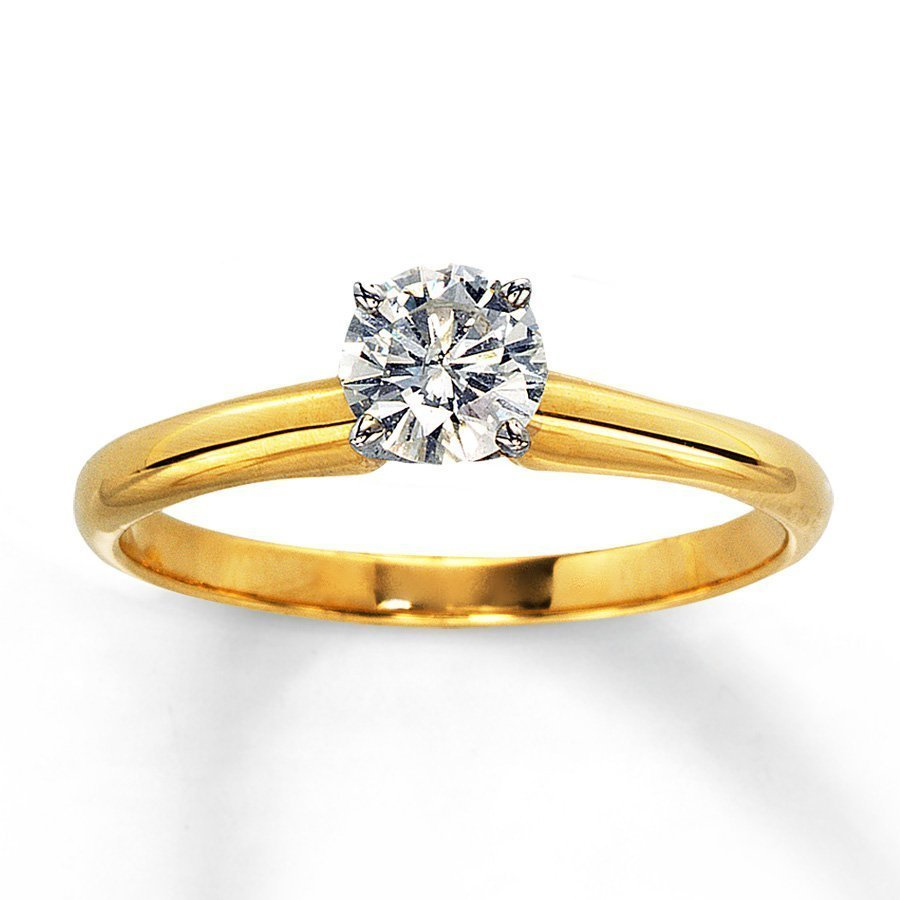 yellow solitaire engagement ring wedding and