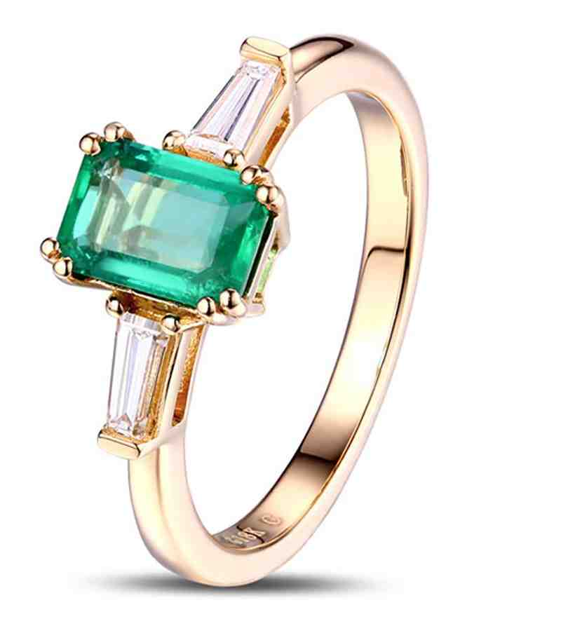 yellow gold emerald engagement rings wedding and bridal