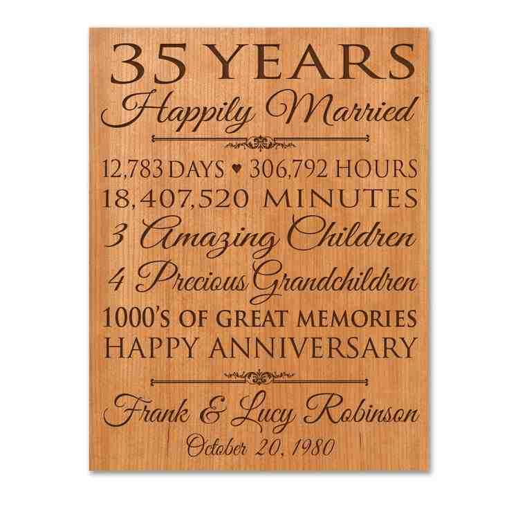 35th wedding anniversary gift ideas for parents wedding for Best gift for marriage anniversary