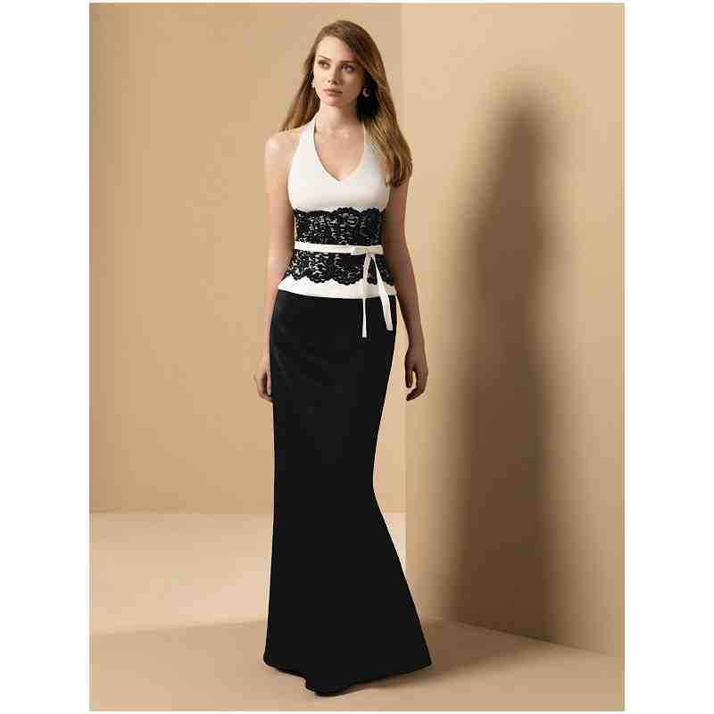 Black and white bridesmaids dresses for weddings wedding for Unique black and white wedding dresses