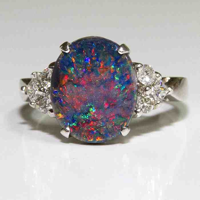 Opal Engagement Rings Black Opal Engagement ...