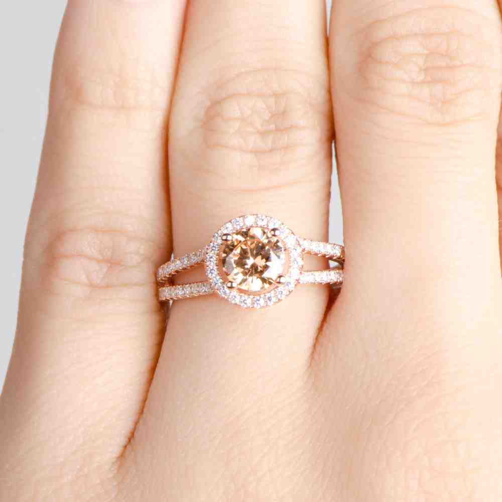 Cheap Rose Gold Engagement Rings Wedding and Bridal Inspiration