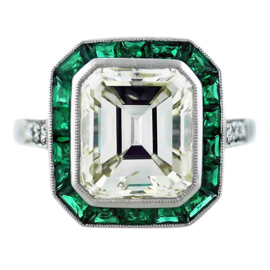 Emerald Cut Ruby Engagement Rings Wedding and Bridal Inspiration