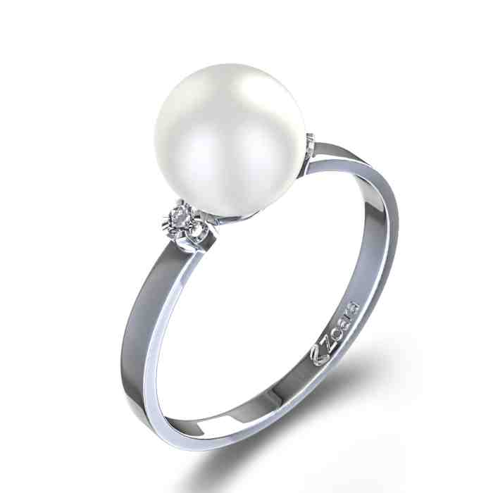 engagement rings with pearls and diamonds wedding and