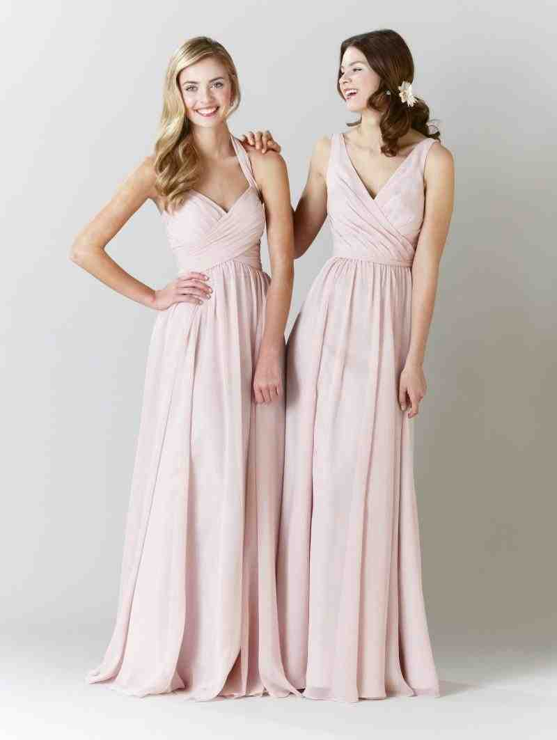 Long Blush Pink Bridesmaid Dresses - Wedding and Bridal ...