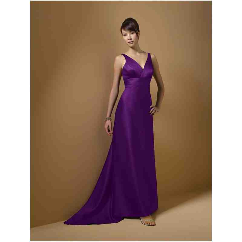 Long purple bridesmaid dresses cheap wedding and bridal for Purple long dress for wedding