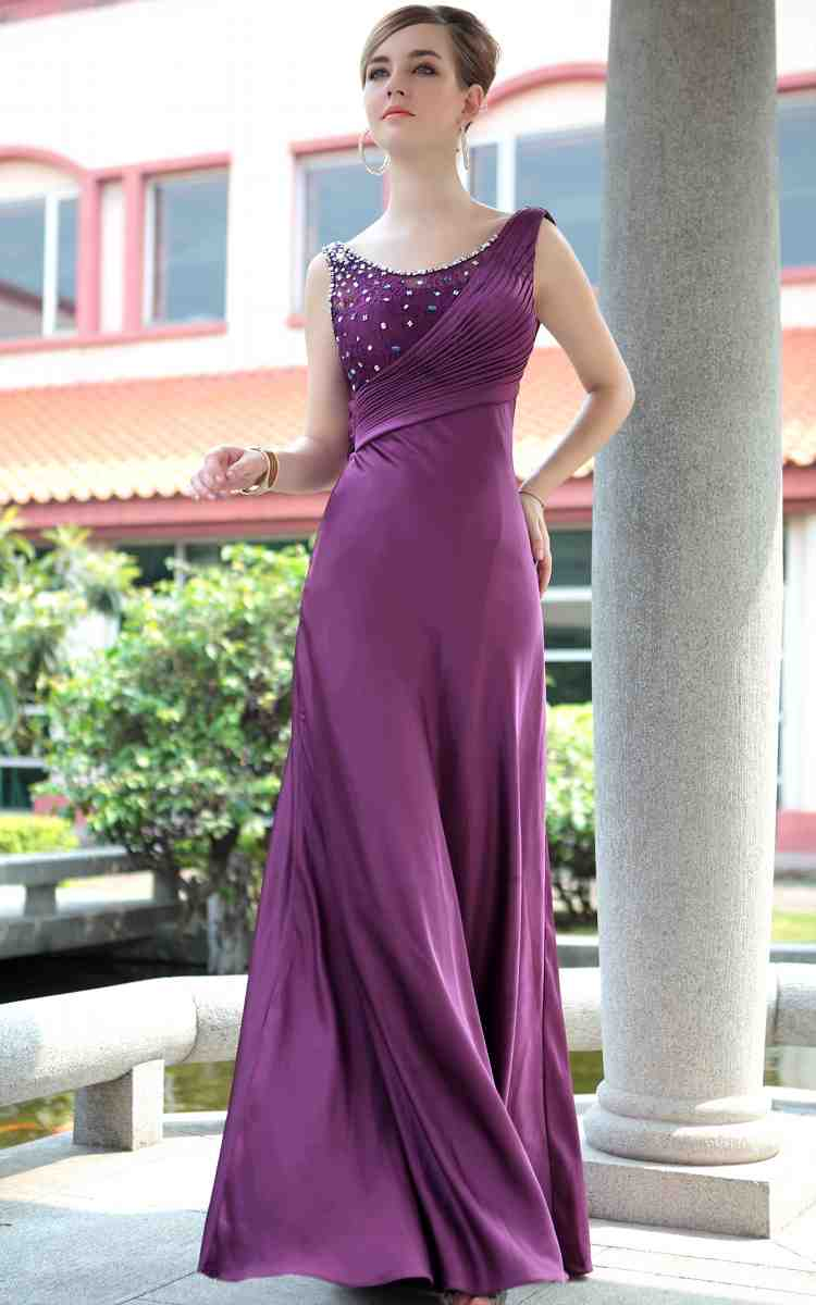 Long Purple Wedding Dresses : Long purple dress for wedding and bridal inspiration