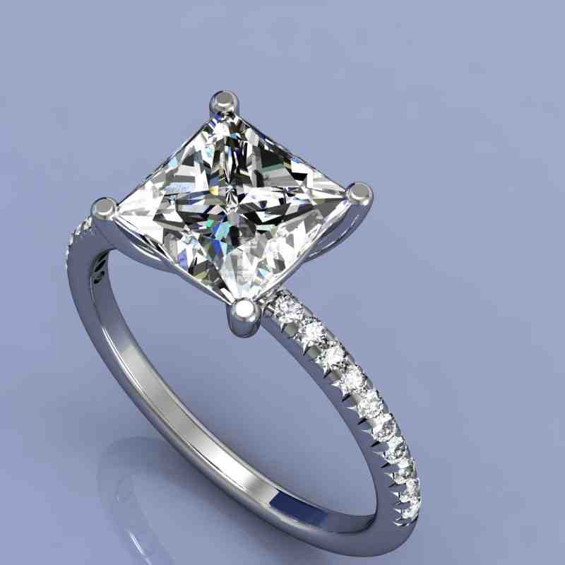 micro pave princess cut engagement rings wedding and